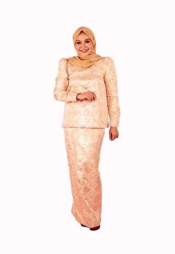 FATIMÉ yellow and gold Premium Brocade Aisyah (Gold) FA948AA9015499GS_1