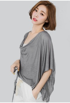 Drape Away Asymmetrical Cowl Top