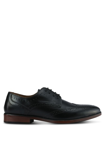 Burton Menswear London black Keyworth Formal Black Brogues BU964SH0RZGTMY_1