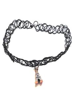 Tattoo Choker, Paris Necklace, Rings and Bracelet Set