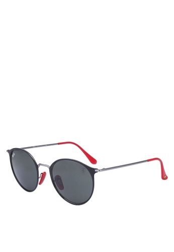 Ray-Ban 黑色 Ray-Ban Scuderia Ferrari Collection RB3602M 太陽眼鏡 74529GLF04A8E5GS_1