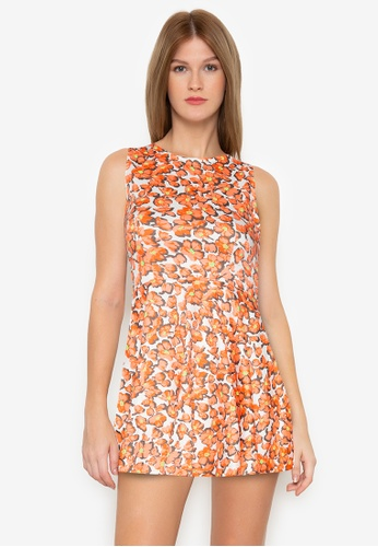 Purple Shore multi Printed Short Dress 1E95DAAFFC7D07GS_1