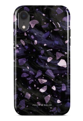 Polar Polar purple Lilac Terrazzo Gem Dual-Layer Tough Case Glossy For iPhone XR 0B409AC3A48DA4GS_1