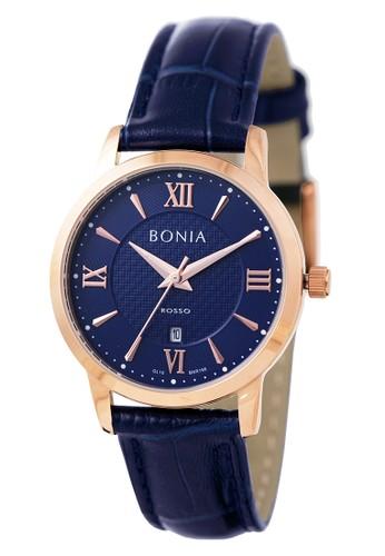 BONIA navy Bonia Rosso - BR166-2583 - Jam Tangan Wanita - Navy Rosegold ABDD3AC060686CGS_1