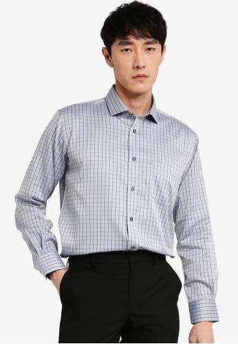 John Master grey John Master Men Timeless Regular Fit Long Sleeve Shirt - Grey 7078802-G5 69C0BAAEECA024GS_1