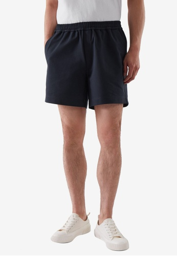COS blue Relaxed-Fit Elasticated Shorts C57C3AADA32917GS_1