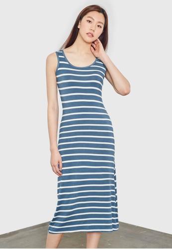 條紋背心連身裙, 服飾, esprit門市地址洋裝