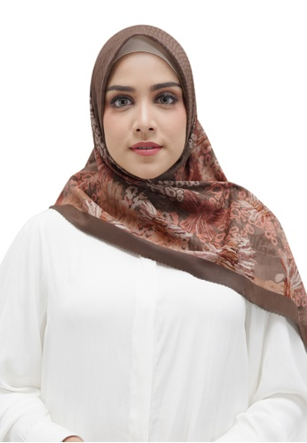 Buttonscarves brown Buttonscarves Les Amities Reborn Voile Square Mocha E8DA1AAA154725GS_1