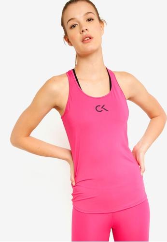 Calvin Klein pink Icon Racerback Tank Top - Calvin Klein Performance C9C17AA602E143GS_1
