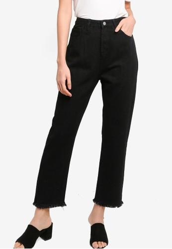 ZALORA BASICS black Mom Fit Denim Jeans 511AAAA4AF90EBGS_1