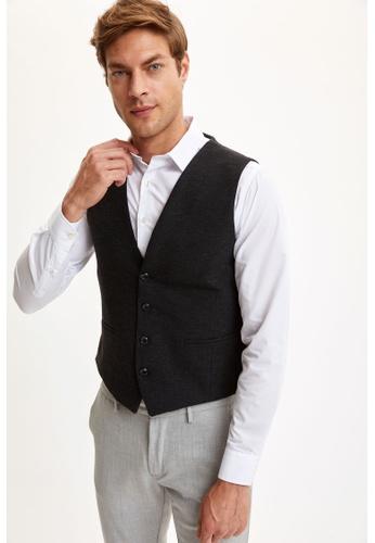 DeFacto grey Man Blazer & Vest Vest 4658AAA21DCA28GS_1