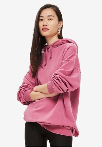 TOPSHOP pink Longline Hoodie D5084AAE02306BGS_1