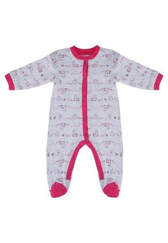 OVS grey Melange Sleepsuit With Sheep Pattern 4B5CEKA117883BGS_1