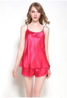 ca8765512c Silk Spagetti Strap Sleepwear Pyjamas L7017-Red F1E15AA8D975F9GS 1 SMROCCO  ...