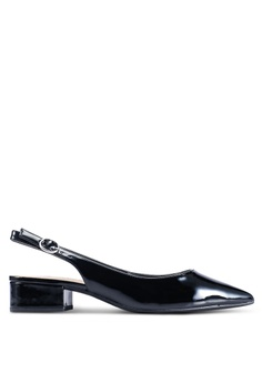 49766a0e5ab9 Dorothy Perkins black Black PU  Daphne  Block Heels Slingback Court Shoes  5E115SH12A032DGS 1