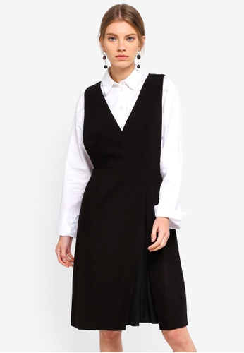 ESPRIT black Woven Midi Dress 405ACAA0A9CB68GS_1