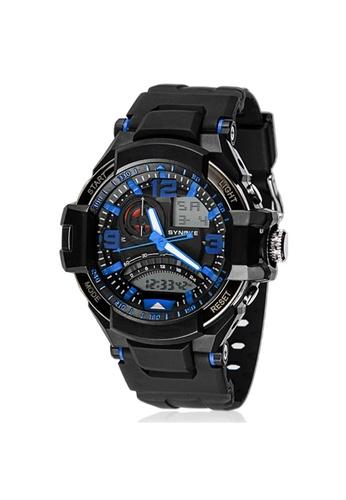 Greatnes Trading Corp blue Men's Multifunctional  Digital Rubber Watch GR861AC92RTRPH_1