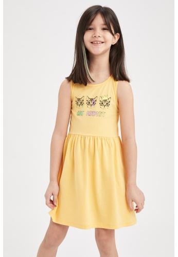 DeFacto yellow Girl Dress 380F8KA6972EACGS_1