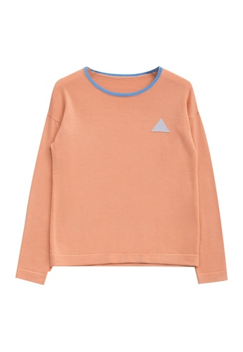 KLAPS pink Merino Sweater With Triangle Patterned 56303AA347A6EFGS_1