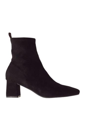 Twenty Eight Shoes black Square Toed Mid Boots VB8882 7D1C7SHDC7F47AGS_1