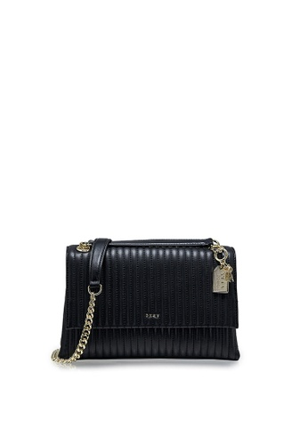 Dkny black DKNY Women Amelia Flap Crossbody Bag 5F381AC262FA43GS_1