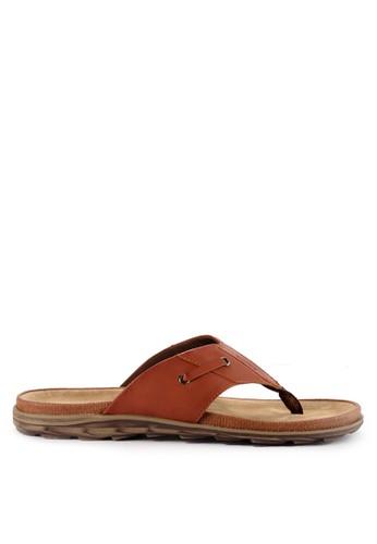Watchout! Shoes brown Sandals Thong D06D0SHBF71599GS_1
