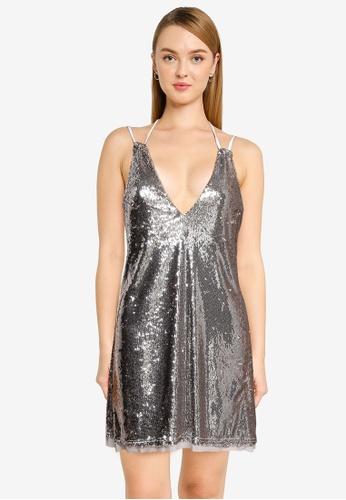 Free People 銀色 Double Take Sequin Mini Dress AEA0BAA6FB2C39GS_1