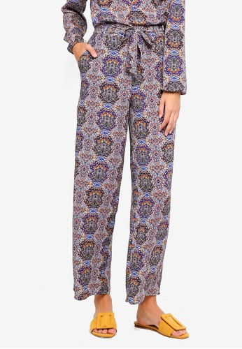 ONLY red and blue Nova Palazzo Pants 384ACAABDAF222GS_1