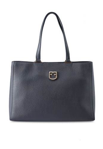 Furla grey Belvedere Tote Bag 41E76ACF9C343AGS_1
