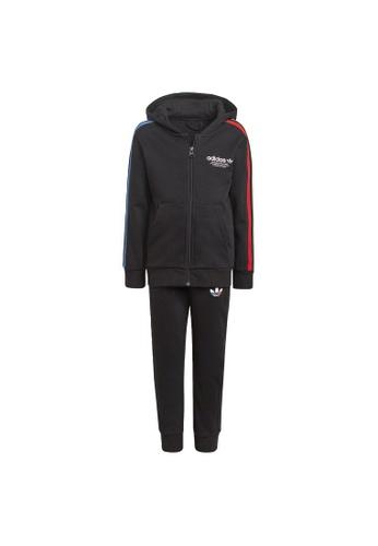 ADIDAS black adicolor full-zip hoodie set D0FA2KAC321B08GS_1