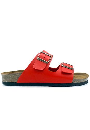 SoleSimple 紅色 Athens - 紅色 百搭/搭帶 軟木涼鞋 92165SH070A4D8GS_1