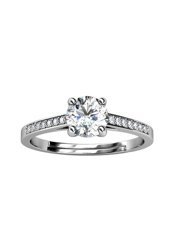 Her Jewellery silver CELÈSTA Moissanite Diamond - Princesse Ring (925 Silver with 18K White Gold Plating) by Her Jewellery 6643BACF6257ABGS_1