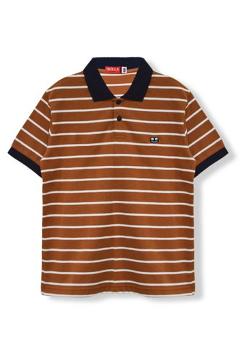 Osella Kids brown Osella Baju Anak Laki Laki Polo Stripe Brown 50041KA5EDBD78GS_1