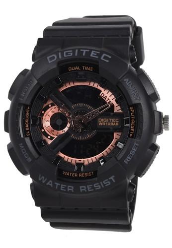 Digitec black Digitec - Jam Tangan Pria - Black - Resin Strap - DA2020-F 25D34AC813EFF4GS_1