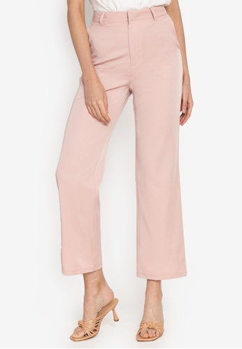 ZALORA WORK pink High Waist Flare Pants 54F2CAAEDCB737GS_1