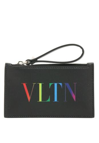 VALENTINO black Vltn Cardholder Cardholder/Coin Purse F459BAC270A214GS_1