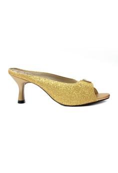 Adele Peep-Toe Slide Party Heels