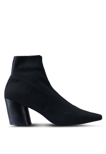 Mango 黑色 高跟踝靴 40C47SH07BE437GS_1