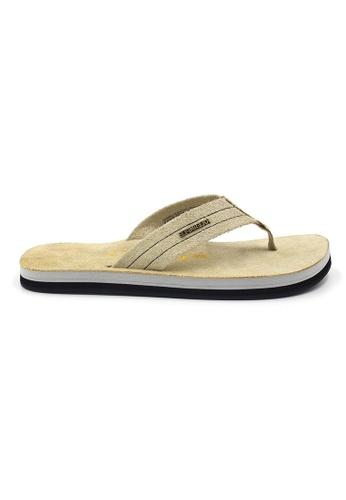 SoleSimple 米褐色 York - 沙色 百搭/搭帶 全皮涼鞋 D5238SH917A4D5GS_1