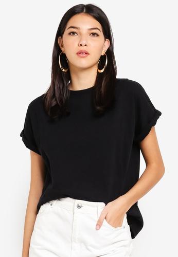 TOPSHOP black Washed T-Shirt 2D316AAB9E92E8GS_1