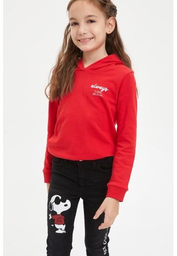 DeFacto red Long Sleeve Cotton Hoodie 4EC1EKA7B344BAGS_1