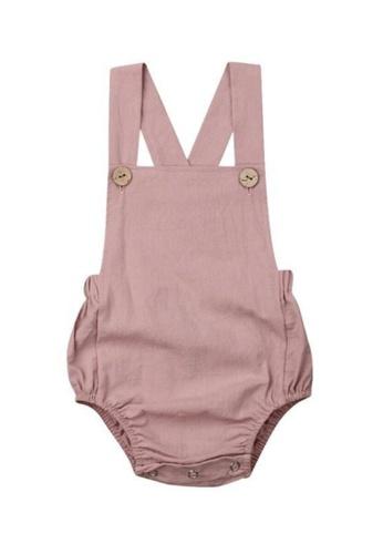 RAISING LITTLE pink Jone Romper - Mauve 37D8AKA5B7EDD2GS_1