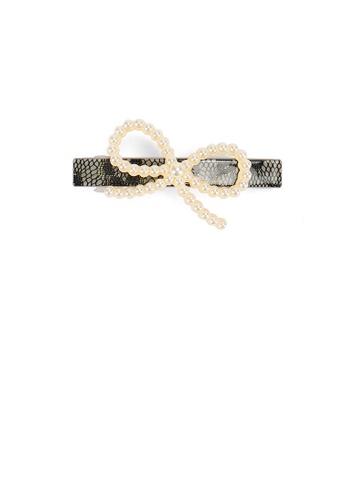 Glamorousky white Elegant and Simple Ribbon Imitation Pearl Hair Clip 136E8AC6A98886GS_1