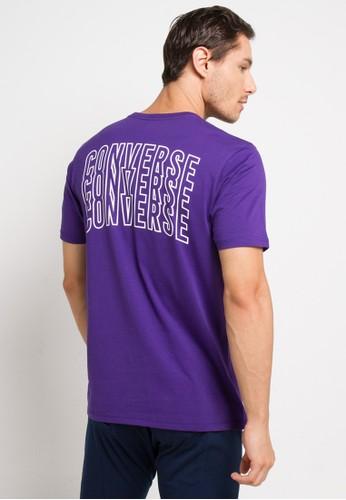 Converse purple Lined Star Chevron T-Shirt 07076AACD7C20AGS_1