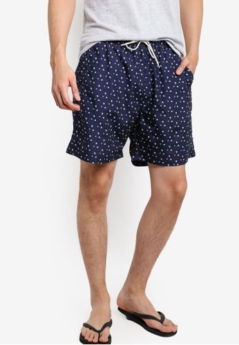 Selected Homme blue and navy SHHHERITAGE Swimshorts SE364US47EQMMY_1