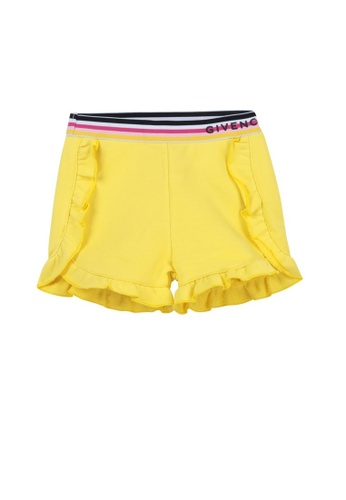 GIVENCHY KIDS yellow GIVENCHY BABY GIRLS FLEECE SHORTS 8EF7DKAB97458AGS_1