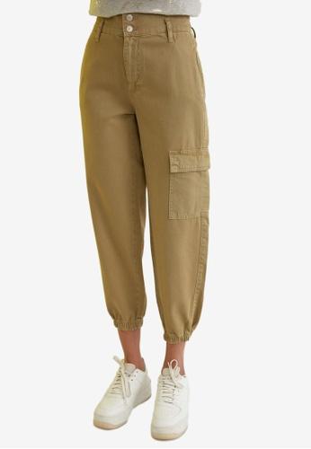 Trendyol 綠色 High-腰圍 慢跑牛仔褲 31479AA571E77EGS_1