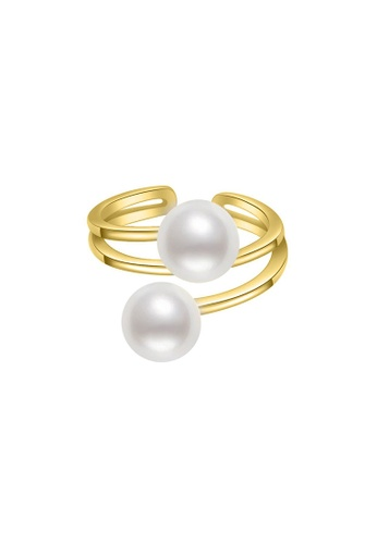 Pearly Lustre gold Pearly Lustre New Yorker Freshwater Pearl Ring WR00055 EF760AC5BFB23DGS_1