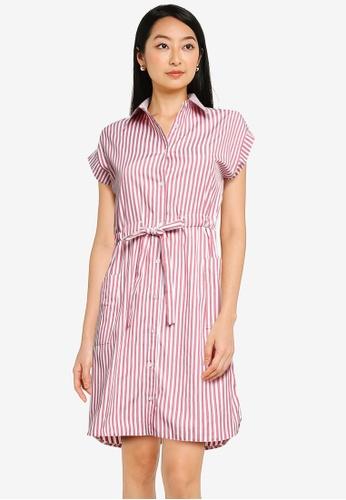 ZALORA BASICS multi Drawstring Shirt Dress E7423AA87E2BC6GS_1
