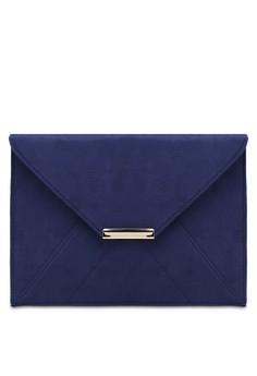 【ZALORA】 Navy Envelope Clutch